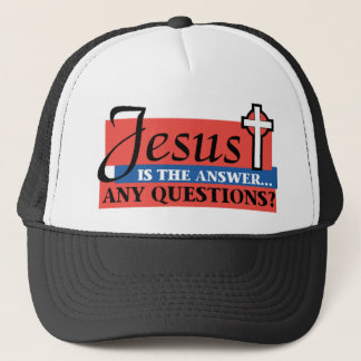 Jesus ist die Antwort Truckerkappe