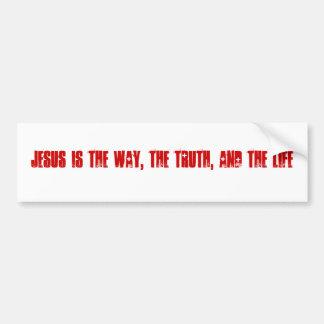 Jesus ist die Weise, die Wahrheit und das Leben Autoaufkleber