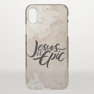Jesus ist epische Beschriftung religiöser iPhone X Hülle