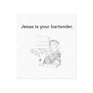 Jesus ist Ihr Barkeeper-Leinwand-Druck Leinwanddruck