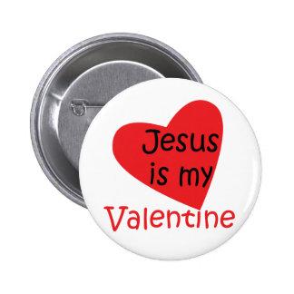 """""""Jesus ist Knopf meines Valentinsgrußes"""" Buttons"""