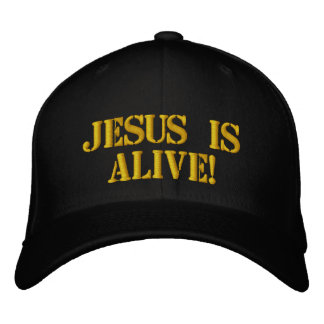 Jesus ist lebendig bestickte baseballkappe