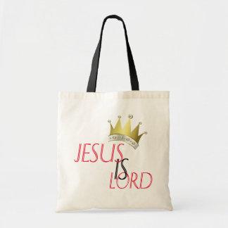 Jesus ist Lord Budget Tote Tragetasche