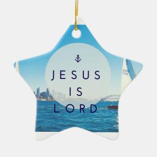 Jesus ist Lord Star Ornament