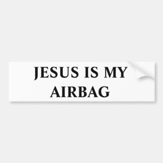 Jesus ist mein Airbag Autoaufkleber