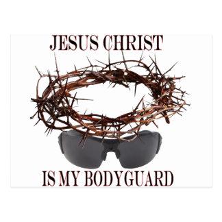 Jesus ist mein Leibwächter Postkarte