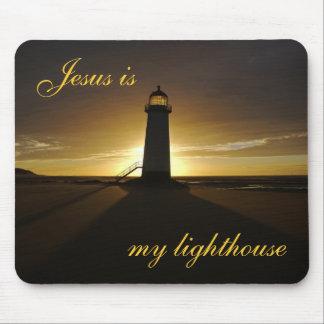 Jesus ist mein Leuchtturm Mousepad