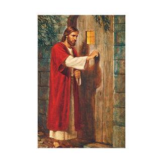 Jesus klopft auf der Tür Leinwanddruck