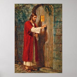 Jesus klopft auf der Tür Poster