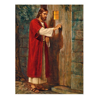 Jesus klopft auf der Tür Postkarte