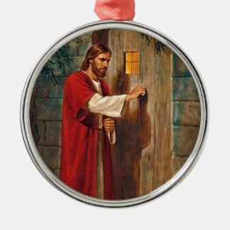 Jesus klopft auf der Tür Silbernes Ornament