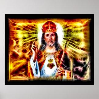 Jesus-König Fractal Art Poster