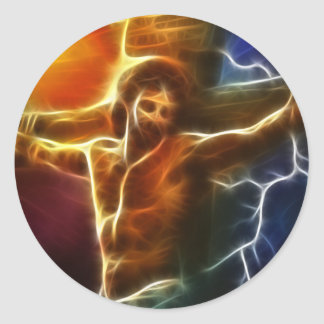 Jesus-Kreuzigung 2 Runder Aufkleber