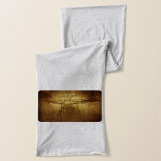 Jesus-Kreuzigung graviert auf hölzerner Planke Schal