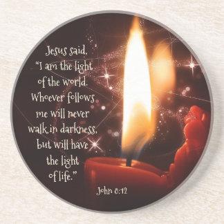 Jesus-Licht des Weltpsalms 8, Bibel, Weihnachten Untersatz