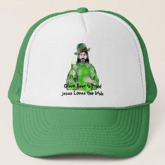 Jesus-Liebe-grünes Bier Truckerkappe