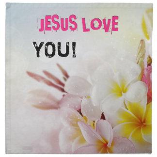 JESUS-LIEBE STOFFSERVIETTE