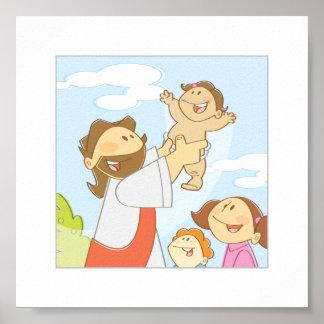 """Jesus-Lieben die kleinen Kinder - 6 x 6"""" Poster"""