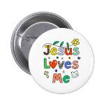 Jesus-Lieben ich Anstecknadelbuttons
