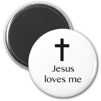 Jesus-Lieben ich querer weißer Magnet