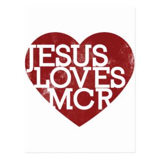 Jesus-Lieben Manchester Postkarte