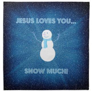 Jesus-Lieben schneien Sie viel! Christliches Stoffserviette