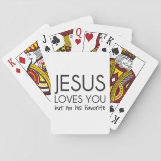 Jesus-Lieben Sie aber ich sind sein Liebling Spielkarten
