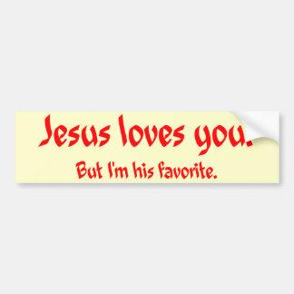 Jesus-Lieben Sie Autoaufkleber