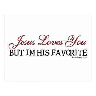 Jesus-Lieben Sie Lieblings Postkarte