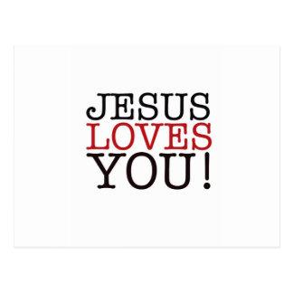Jesus-Lieben Sie! Postkarte