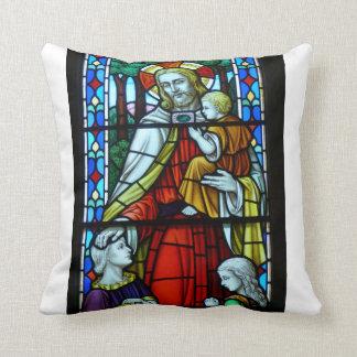 Jesus mit Kindern Kissen