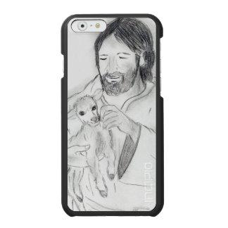 Jesus mit Lamm Incipio Watson™ iPhone 6 Geldbörsen Hülle