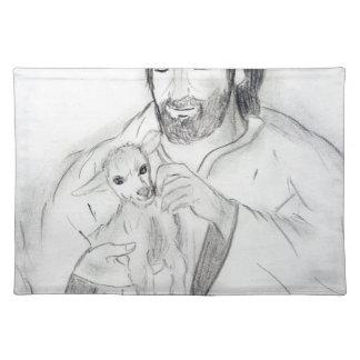 Jesus mit Lamm Tischset