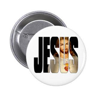 Jesus mit seinem Bild in seinem Namen Anstecknadel