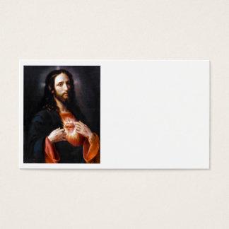 Jesus öffnet sein Herz zu uns Visitenkarte