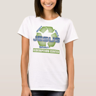 Jesus recyceln Abzahlungs-Mitte T-Shirt