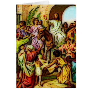 Jesus reitet den Esel in Jerusalem Karte