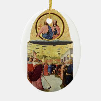 Jesus reitet ein UFO Keramik Ornament