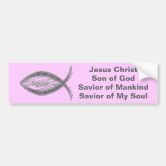 Jesus-Retter-Fisch-Symbol Autoaufkleber