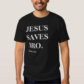 Jesus rettet, Bro (John-3:16) Hemd