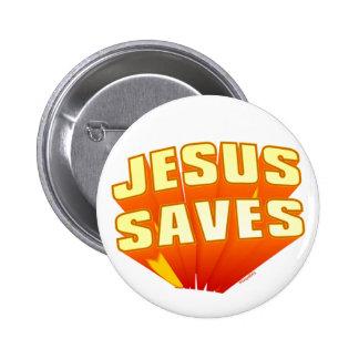 Jesus rettet christliches Geschenk Buttons