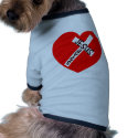 Jesus rettet (Herz) Hunde T Shirt