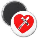 Jesus rettet (Herz) Magnets