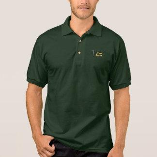 Jesus rettet Polo-Art-Shirt - gelber Text-DK-Shirt Polo Shirt