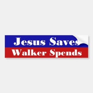 Jesus rettet Wanderer aufwendet Autoaufkleber