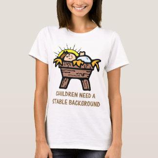 Jesus-Stallhintergrund T-Shirt