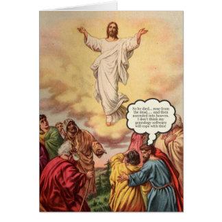 Jesus steigt Geburtstags-Karte auf