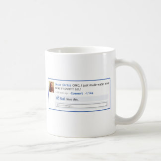 Jesus tut Sozialmedien Kaffeetasse