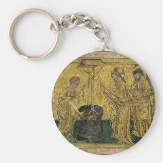 Jesus und die Samariter-Frau am Brunnen Schlüsselanhänger