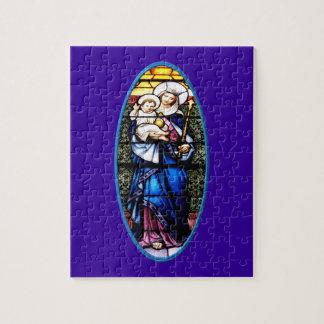 Jesus- und Mary-Buntglasfenster Puzzle